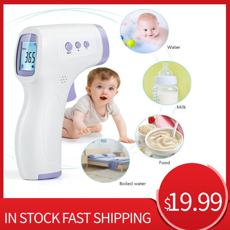 Non-Contact Infrared Forehead Thermometer For Adults And Children With Lcd Display Digital Laser Temperature Tool