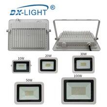 AC 220 V-240 V светодиодный инженерный светильник 10W 20W 30W 50W 100W IP68 водонепроницаемый наружный настенный светильник-отражатель, садовый квадратный точечный светильник
