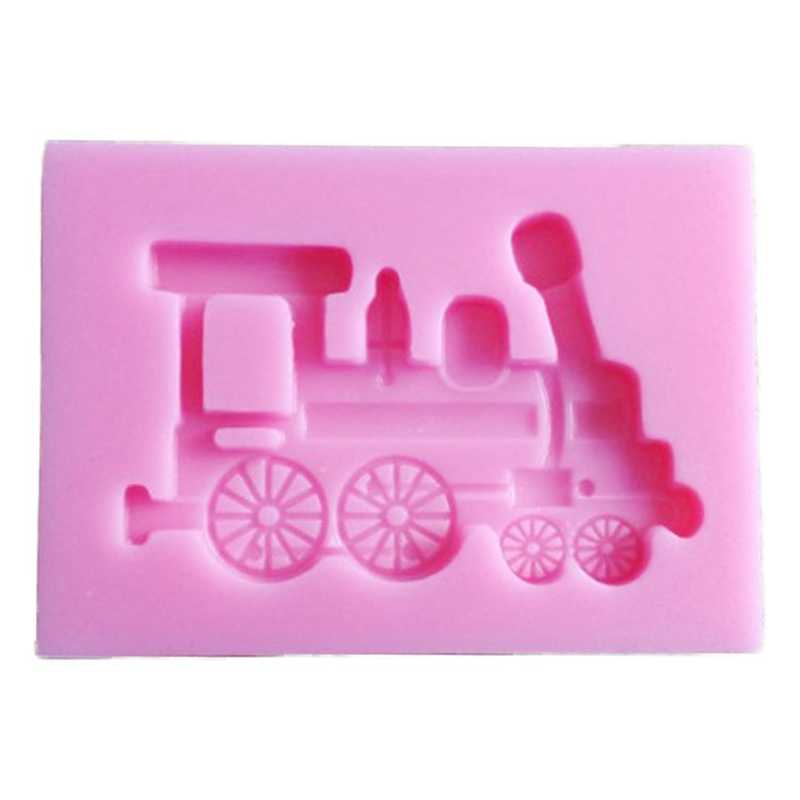 Train Shape Silicone Cake Mold Dining Bar Baking Mould For Candy Chocolate Sugar Craft Fondant Cake Decorating Tools