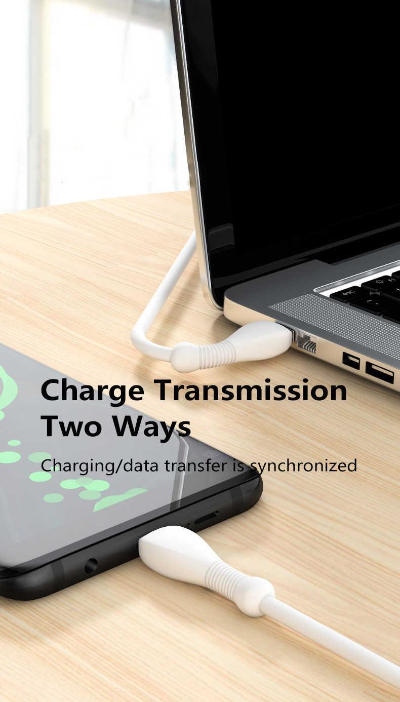 ใหม่Dualพอร์ตType-Cโทรศัพท์มือถือข้อมูลUSBสายUSB Micro Chargerสายไฟ3A Fastสำหรับhuaweiโทรศัพท์Xiaomi TXTB1