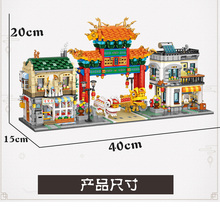 Building-Blocks Architecture Dragon Chinatown Dance/street-View Traditional Loques LOZ