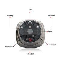 ROLLUP iHome5 WiFi Peephole 초인종 및 비디오 IP 도어 카메라 IR PIR 도어 HD 벨 모션 감지 IR Night Vsion 2MP Lens