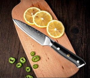 Image 5 - XITUO מטבח שף סכין סט VG10 דמשק פלדה 67 שכבה פרוסות Nakiri Kiritsuke סושי סכין עצם יפני סכין בישול כלים