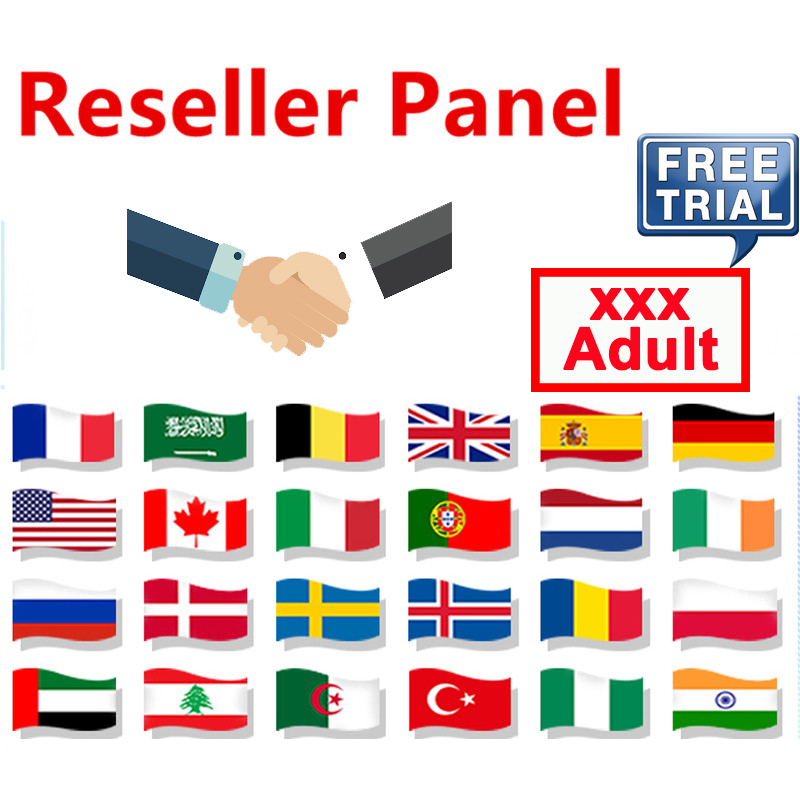IPTV Reseller Panel Global HD IPTV Free Control Panel With Credits M3U Subscription Code For CA UK Italy Spain German Netherland