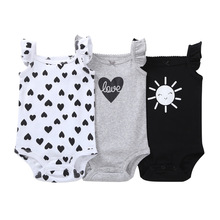 Newborn Baby Clothes 3PCS/Lot Rompers Sleeveless 100% Cotton Boy Infant High Quality Jumpsuit 6-24 Month