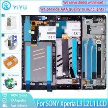 Display original para sony xperia l3 l2 l1 lcd tela de toque digitador assembléia substituição display para sony l3 lcd com quadro