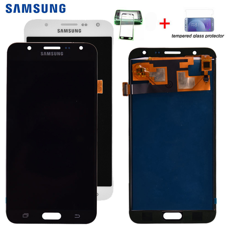 J700 <font><b>LCD</b></font> Für <font><b>Samsung</b></font> <font><b>Galaxy</b></font> J7 2015 J700 J700F J700M <font><b>J700H</b></font> <font><b>LCD</b></font> Display Mit Touch Screen Digitizer Montage einstellen helligkeit image