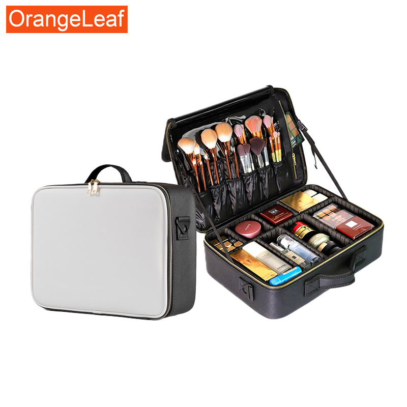 Travel Toiletry Bag Cosmetic Bag Organizer Pu Multifunction Make Up Cases Big Capacity Beautician Cosmetics Suitcases For Makeup