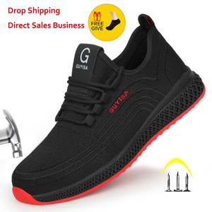 XPUHGM Air Mesh Steel Toe Work Shoes Breathable Working Shoes Man Safety Lightweight Puncture-Proof Safety Boots Dropshipping