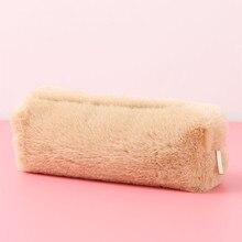 1 шт. популярный милый чехол для карандашей Kawaii Girls So, пушистая восьмиугольная сумка для хранения, сумочка, школьные принадлежности для учащихся, канцелярские принадлежности