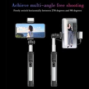 Image 2 - Palo de selfie CYKE A18 A17, palo de selfie con Bluetooth 110 160cm, varilla telescópica, palo de selfie con temporizador automático y luz de relleno, palo de selfie con Bluetooth