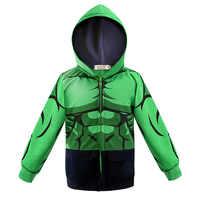 Wiosna kurtka dla dzieci Hulk zielony kurtka dla dziewczyny chłopcy Spiderman Avengers serii bluza z kapturem odzieży wierzchniej dla dzieci kurtka płaszcz 3 4 5 6 7 8Y