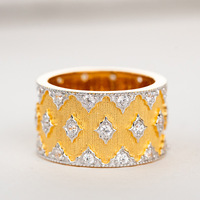 CMajor S925 Sterling Silver Jewelry Two tone Luster Gold Vintage Palace Luxury Cubic Zircon Rings Gift For Women