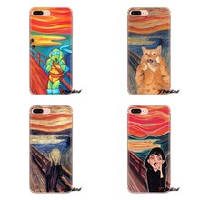 Screaming Edvard Munch Mickey Phone Covers For Samsung Galaxy S2 S3 S4 S5 MINI S6 S7 edge S8 S9 Plus Note 2 3 4 5 8 Coque Fundas(China)