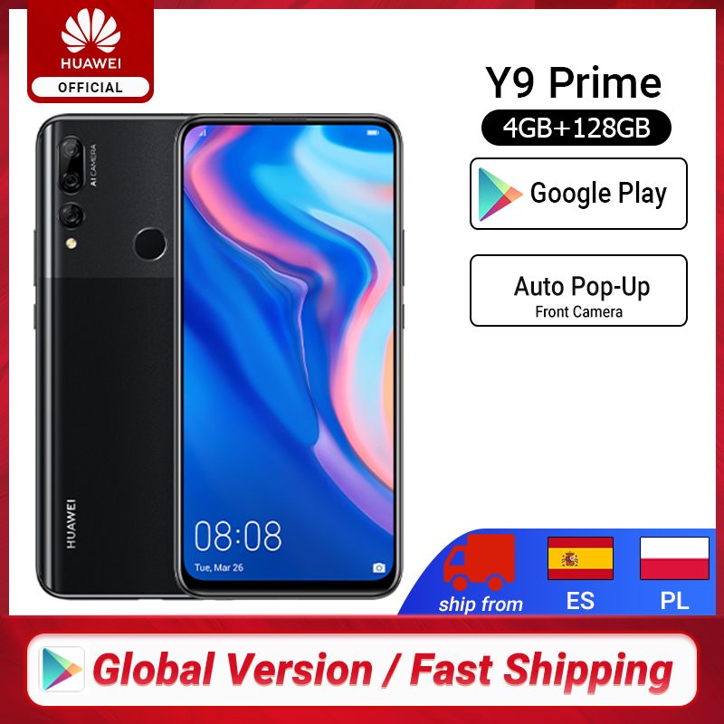 "In stock Global Version Huawei Y9 Prime 2019 Smartphone AI Triple Rear Cameras 4GB128GB Auto <font><b>Pop</b></font> <font><b>Up</b></font> Front <font><b>Camera</b></font> 6.59"" cellphone image"