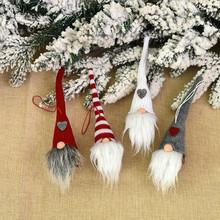 Świąteczne pluszowe lalka anioł pluszowy święty mikołaj wiszące ozdoby choinka lalka wystrój nowy rok 2021 ozdoby choinkowe dla domu tanie tanio CHASANWAN (装饰品) PD-496-503 christmas tree home decorations natal
