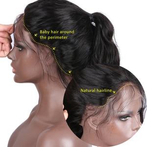 Image 5 - גלי שיער טבעי פאות ארוך הודי רמי שיער Glueless 13*6 תחרה מול פאה עבור נשים טבעי צבע 130% וflowerseason