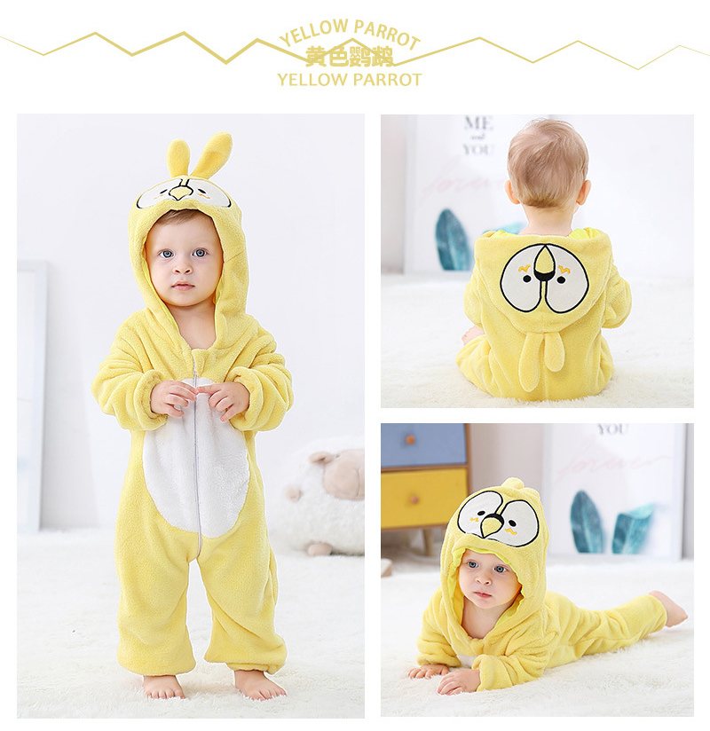 H14c6e869097742809741201817992958Q 2019 Infant Romper Baby Boys Girls Jumpsuit New born Bebe Clothing Hooded Toddler Baby Clothes Cute Panda Romper Baby Costumes