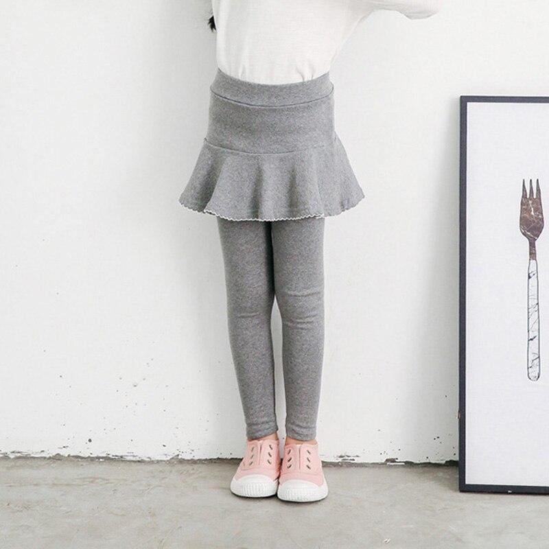 2019 Fall Girl Sprot Legging Skirt-pants Cake Skirt Baby Girl Fall Leggings Children's Girls Skirt Pant for 3-8 Years 5