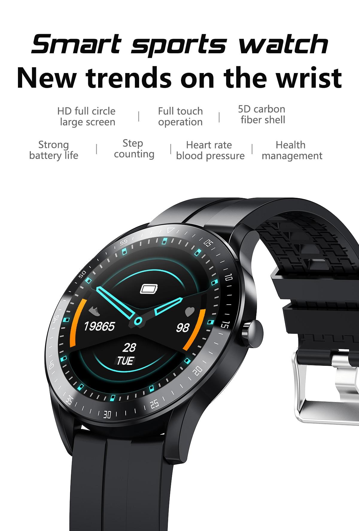 H14c70c332f24438faea3ecf7f6a6aeb3l LEMFO F15 Full Touch Screen Smart Watch Men 5D Case