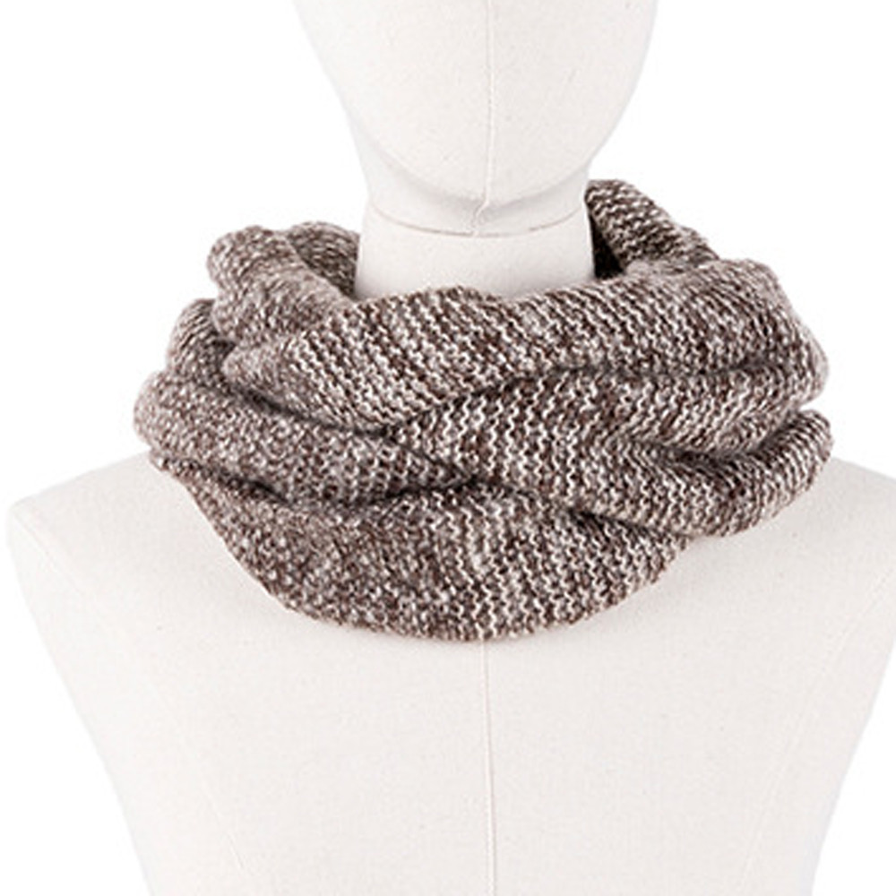 2019 Female Scarves Fashion Women Scarf Solid Autumn Crochet Blend Wrap Ring Long Shawl Warm Winter Knitted Circle Snood Ring