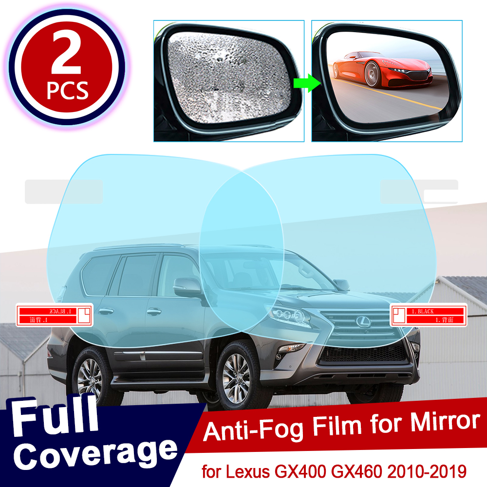 for Lexus GX <font><b>GX400</b></font> GX460 400 460 2010~2019 Car Rearview Mirror Protective Film Waterproof Rainproof Anti Fog Car Sticker 2011 image
