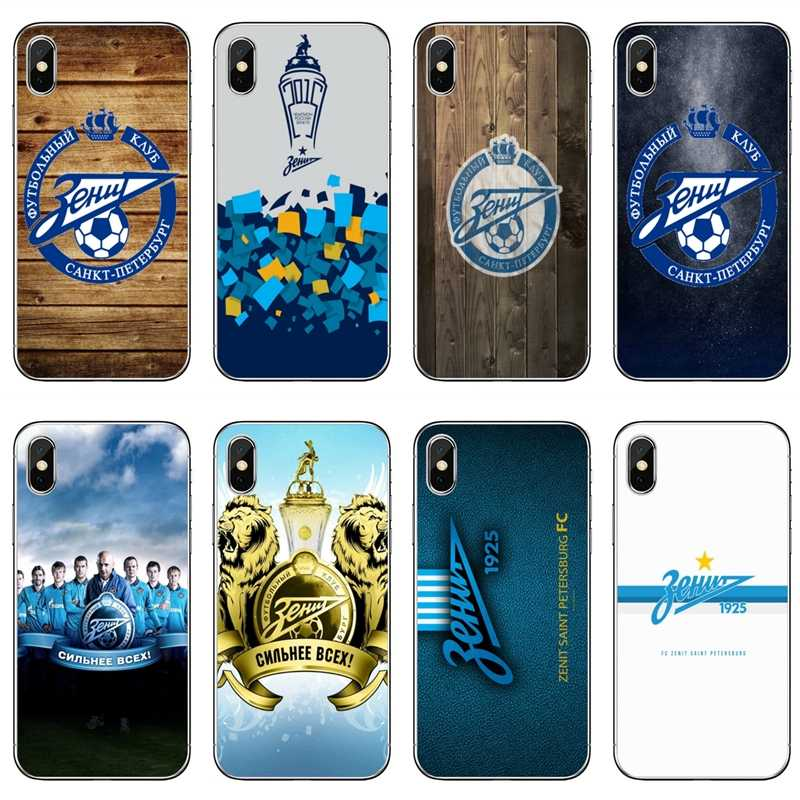 Para iPhone XR X XS X Max 8 7 6s 6 plus Samsung Galaxy nota S6 S7 borde S8 S9 funda con logotipo S10 Plus lite FC Zenit Club de fútbol
