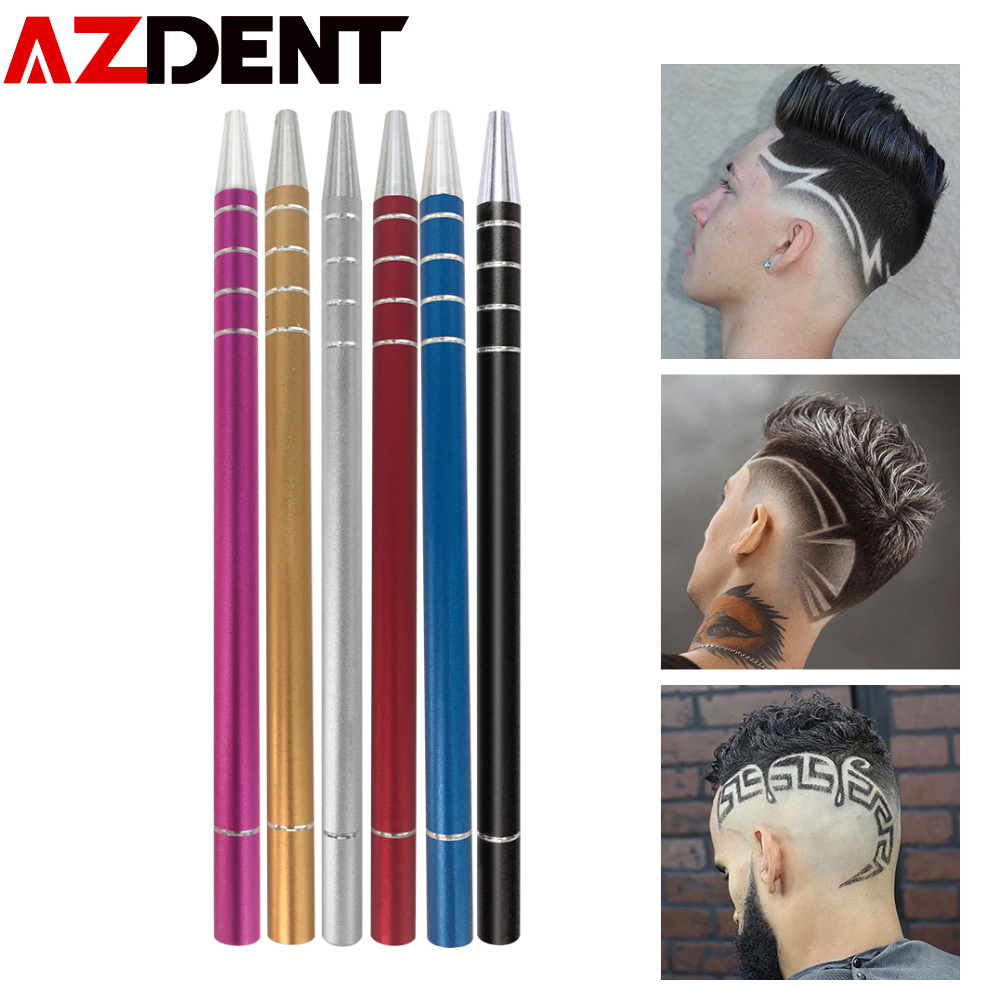 1 Pen+10 Blades Hair Tattoo Trim Styling Engraving Pen Face Eyebrow Shaping Scissors Device Multifunctional Beards Razor Tools