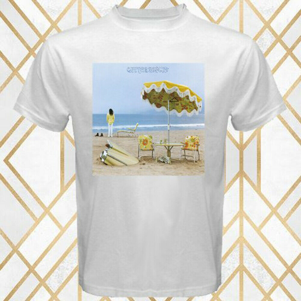 Neil Young On The Beach Album Cover Men's White T-Shirt Size S - 3XL Summer Short Sleeves Cotton T-Shirt Fashion image