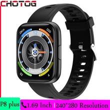 CHOTOG Smart Watch uomo 1.69 pollici HD Full Touch Screen calcolatrice controllo musica frequenza cardiaca Fitness Tracker Sport Smartwatch donna