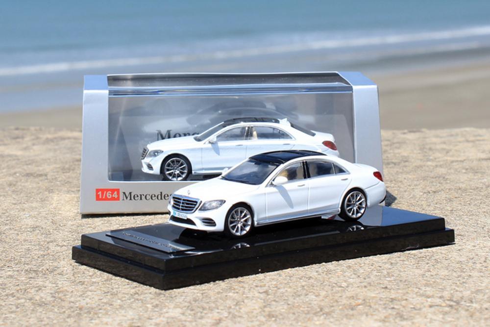 ACE 1/64 Scale Mercedes-Benz S-Class S 450 L W222 White Diecast Car Model Gift