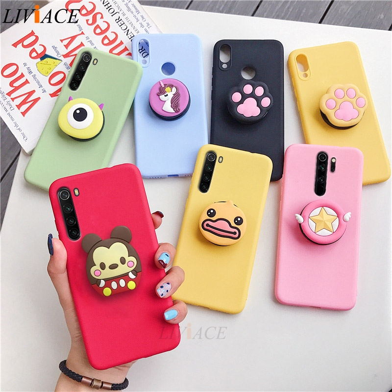 3D Cartoon Phone Holder Standing Case for Xiaomi Redmi Phone Made Of High-Quality Silicone And TPU Material 1