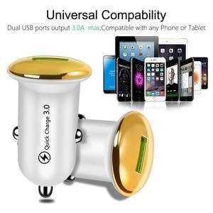 Image 3 - מיני מטען לרכב עבור iPhone 11 X מהיר תשלום 3.0 USB טלפון מטען עבור סמסונג S10 S20 בתוספת מהיר טעינה טלפון נייד מטענים