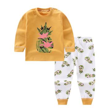 Chłopięce piżamy komplety odzieżowe spodnie z długim rękawem dla dzieci chłopcy bawełniane dziecięce samochody komplety bielizny maluch chłopcy odzież zestaw tanie i dobre opinie Unini-yun Moda O-neck Swetry 13 37 COTTON Akrylowe Unisex Pełna REGULAR Pasuje prawda na wymiar weź swój normalny rozmiar