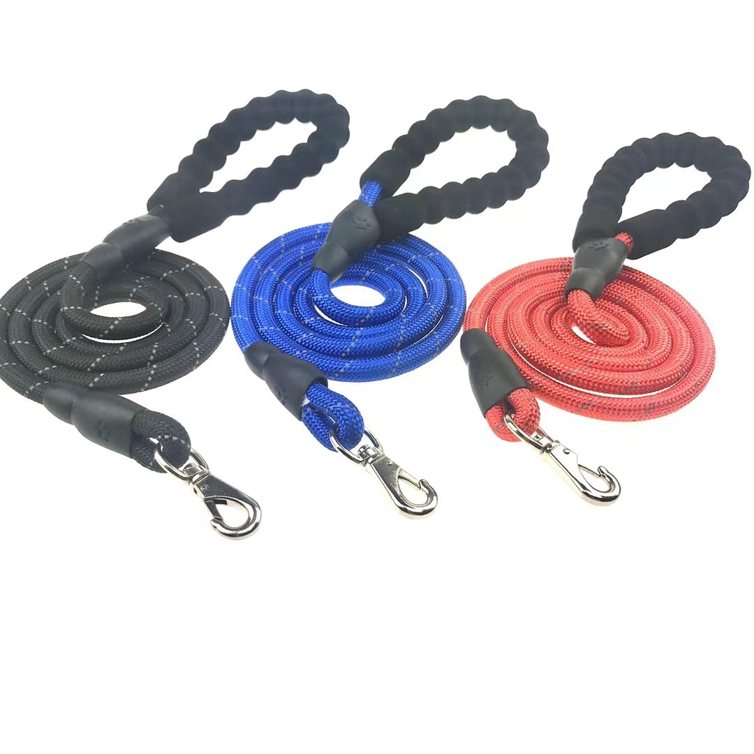 Pet Traction Rope Dog Nylon Reflective Proof Punch Traction Belt Round Rope Pet Supplies