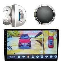 AHD 3D 360 car camera degree bird view Parking System Auto Car Camera with DVR night vision Super wide angle 360 degree camera