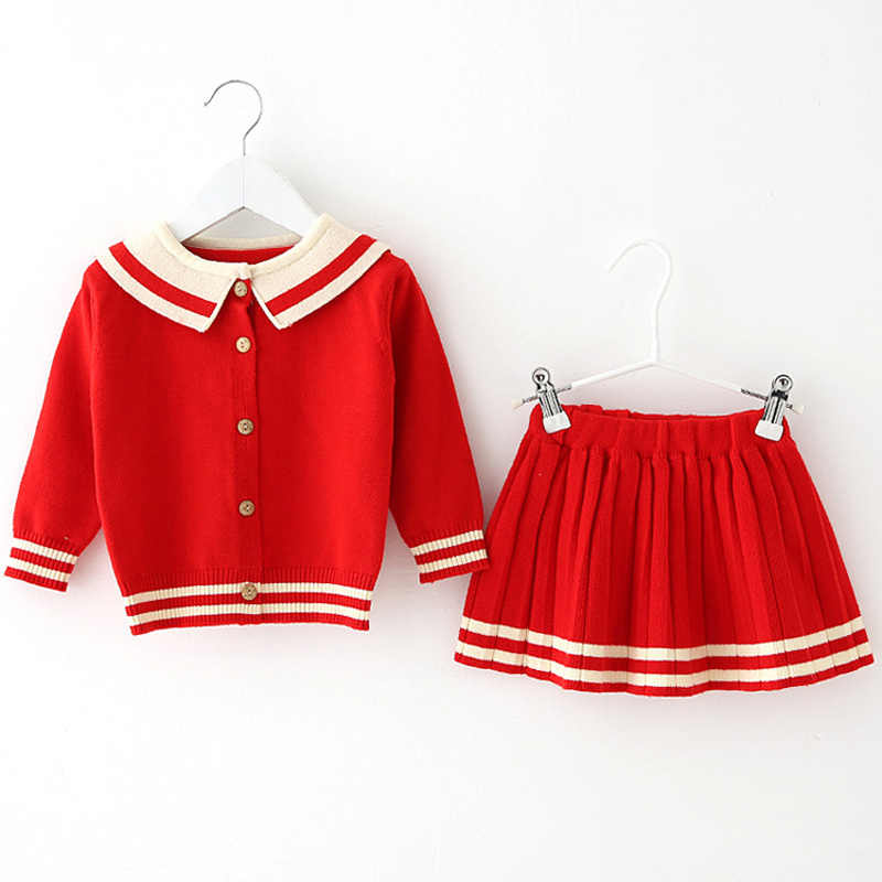 Baby Girl clothing fall knit sweater sets for newborn baby girls clothes outfits suit baibies wear Christmas birthday cloth sets