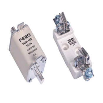 FEEO-fusible DC PV, 160 Amp, 1000V, carril Din, soporte de fusible Solar electrónico + fusible automático 1