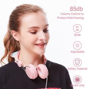 Image 5 - Leuke Eenhoorn Cartoon Hoofdtelefoon Oortelefoon Met Mic Kids Meisje Over Ear Headset Gamer Pc Telefoon Hoofdtelefoon Voor Samsung Xioami Geschenken