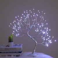 Romantische 108 LED Touch Nachtlicht USB/Batterie Powered Mini Weihnachten Baum Kupfer Draht Girlande Fee Tisch Lampe für home Kinder