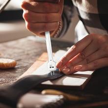 Кожаные дыроколы инструмент DIY инвариантный острый тонизированный ручной работы сшитые кожаные инструменты для домашнего шитья без деформации