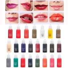 Encres de maquillage Semi-Permanent pour sourcils, 23 couleurs, 15 ml, pigments de couleur, ligne, Microblading, tatouage des yeux, R1J2