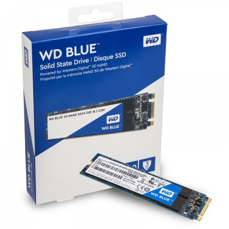 Western Digtal Blue <font><b>WD</b></font> 3DNAND <font><b>SSD</b></font> 250GB <font><b>500GB</b></font> 1TB 2TB Internal SATA 6Gb/s 560MB/s M.2 2280 Solid State Drive HDD For PC Laptop image