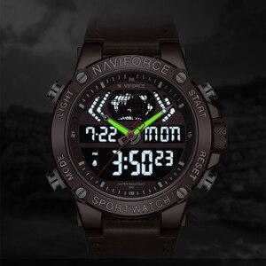Image 4 - นาฬิกา NAVIFORCE นาฬิกาผู้ชายแบรนด์หรู Analog กีฬานาฬิกาข้อมือหนังแท้นาฬิกาผู้ชาย Relogio Masculino 9164