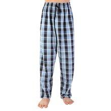 Новинка мужские хлопковые штаны в клетку для сна женские пижамные