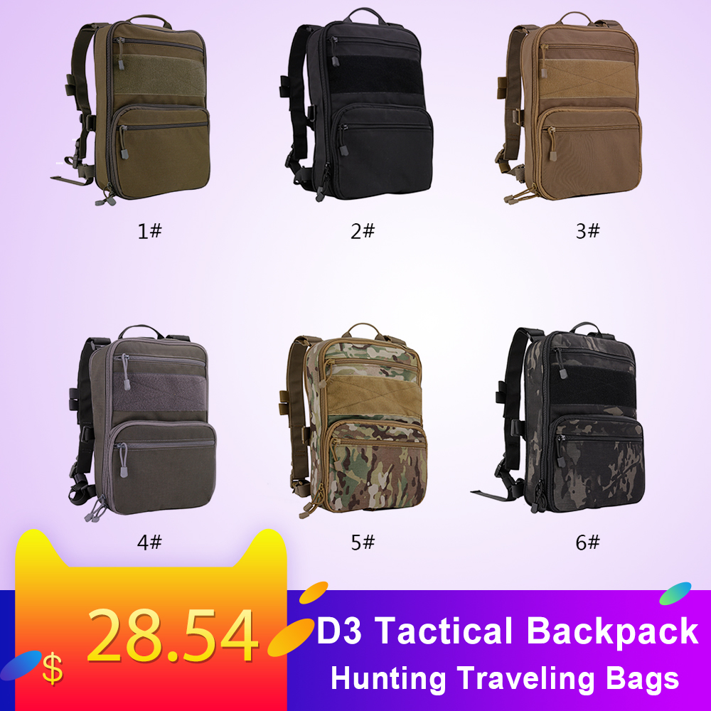 D3 Flatpack Hunting Tactical Bags Hydration Carrier Multipurpose Gear Molle Pouch Outdoor Hunting Traveling Bags Backpacks