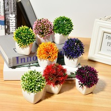 Dandelion Succulents Mini Bonsai Artificial Flowers With Ceramic Flowerpot for Garden Decoration Farmhouse Decor