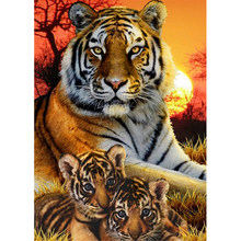 Animals Tiger Diamond Painting Diamond Embroidery 5D Diy Full Square Diamond Mosaic Diamond Paint Round Daimond Painting Gift(China)