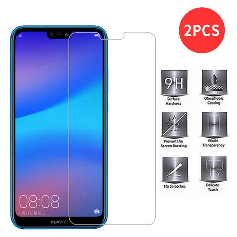 2 Buah Layar Ponsel Pelindung Film untuk Huawei Y3 Y5 Y7 2017 Y6 2018 Y7 Y9 2019 Hard Tempered kaca untuk Huawei P Smart 2019