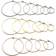 20 шт., гипоаллергенные серьги-кольца из нержавеющей стали